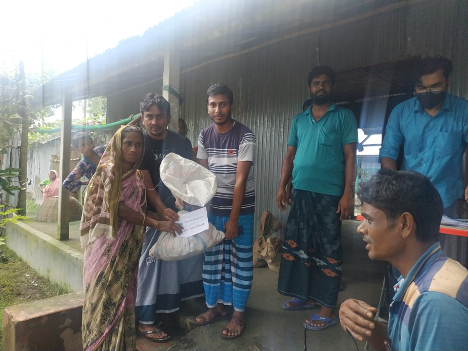 AJ Salim working in Bhrungamari Upazila